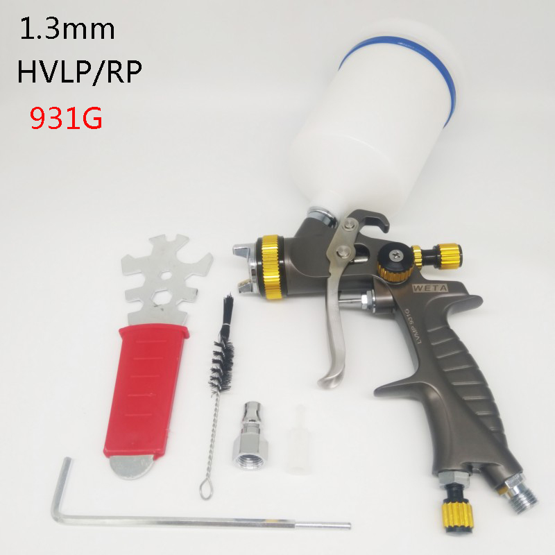 Weta HVLP/RP spray paint gun 1.3mm Airbrush airless spray gun for painting car Pneumatic tool air brush sprayer 125ml airbrush magic spray gun airless paint sprayer air brush alloy painting paint tool professional power tool