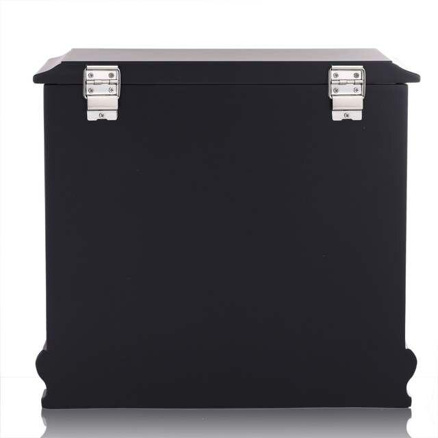 € 120.59 |Luxe grande boîte à bijoux en bois noir bijoux organisateur  Armoire miroir mallette de rangement Armoire cercueil pour collier boucles  ...