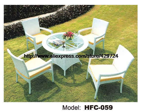 Modern Simple Style White Rattan Table Chair Set Classic