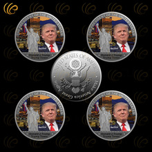 United States The 45th President Donald Trump Silver Coin Trump Tower Design Silver Plated Metal Coin Worth Collection
