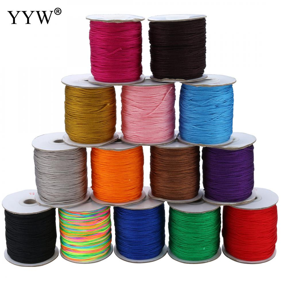 180Yards 1.5 MM Waxed Nylon Cord Plastic Spool String Strap Wholesale Necklace Rope Bead For Necklace Bracelet Making layered rope bead bracelet