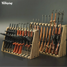 купить 1/6 Scale accessories model an Short Rifle Model(Not Weapon)Display Weapon Gun Stand Shelf Rack Toys for12 action figure дешево