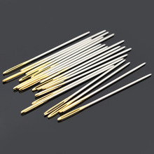 Artesanía de cuero aguja de coser ronda prisma cabeza contundente cerveza señaló herramienta afilada para bordado costura oro cola grandes agujas de ojo