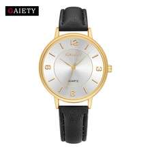 New Arrival GAIETY Quartz Watch Women Luxury Brand Gold Leather Casual Analog bracelet Dress Sport Wristwatches Clock Gifts