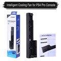 Inteligente Game Console Ventilador De Refrigeração Dupla Automática Manual de Controle de Temperatura de Calor Exaustor Ventilador Cooler para PS4 Pro Console