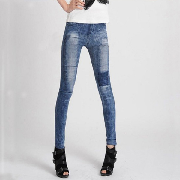Women's Denim Leggings,Thin Jeans, Casual Denim Leggings 16