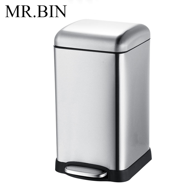Bin 12 20 Litre Large Capacity Step Trash Can With Removable Inner Tank Modern 410 Stainless Steel Rubbish For Kitchen