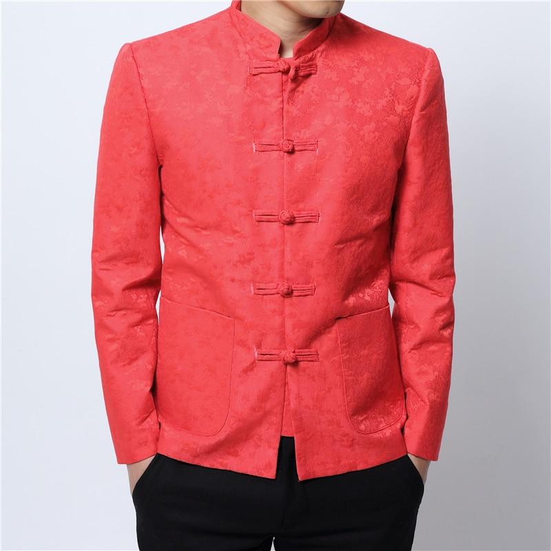 4xl Fit Xl rouge Veste Slim Manteaux Longues 2xl Manches Taille M Top À L bleu Style 3xl Noir Mode Chinois Hommes Imprimer De S xeodCB