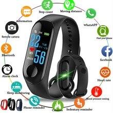 Купить с кэшбэком Women Sport Waterproof Watch Blood Pressure Heart Rate Monitor Smart Watch Men Fitness tracker pedometer Watch