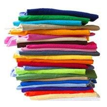 Solid Color T Shirt Wholesale Black White Men Women Cotton