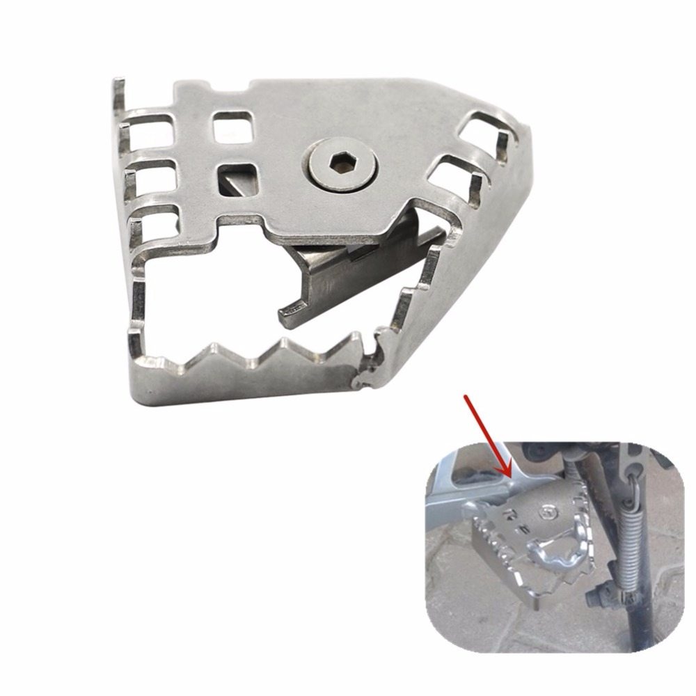 Sliver Rear Foot Brake Lever Pedal Shifter Peg Enlarge Extension For BMW F800GS F700GS F650GS R1150GS R1200GS F 800/700/650 GS