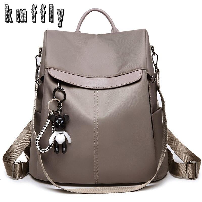 Oxford Backpacks Anti-Theft Khaki-Color LANYIBAIGE School-Bags Teenage Women Girls Design