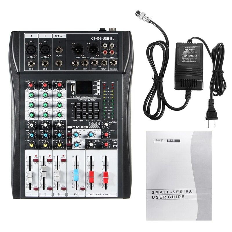Leory Mini 4 Kanal Musik Mischen Ultra-compack Audio Sound-mixer Dj Konsole Dj Mezclador Für Audio Pc Karaoke Professionelle Professionelle Audiogeräte Unterhaltungselektronik