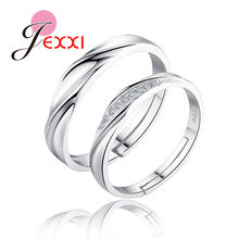 925 Sterling Silver Couple Rings Fashion Jewelry Classical Rings Adjustable Sizes Wholesale Separate Men and Women !!!(China)