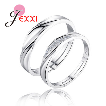 925 Sterling Silver Couple Rings Fashion Jewelry Classical Rings Adjustable Sizes  Wholesale Separate Men and Women !!!