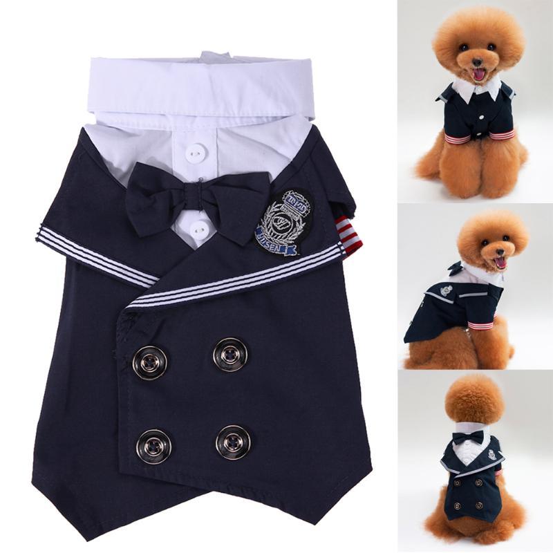 Dog Formal Dress Pet Puppy Warm Clothes Outfit Cat Jacket Coat Pet Clothing Suit Dogs Cats Wedding Dress S/M/L/XL/XXL