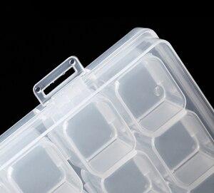 Image 2 - 28 شبكة الماس اللوحة أطقم صندوق تخزين من البلاستيك مسمار الفن حجر الراين أدوات الخرز صندوق تخزين حامل مُنظِم عدة GYH