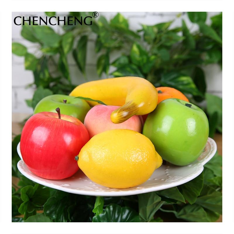 11 pieces Apple Pear Banana Decorative Artificial Fruits Vegetables Model Foam DIY Plastic Lifelike Fake Fruit For Home Decor in Artificial Fruits from Home Garden