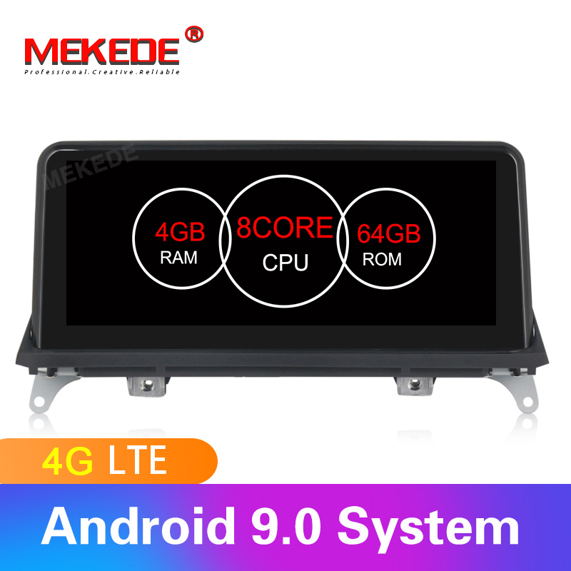 Android 9.0 4GB RAM 64GB ROM car gps navigation multimedia player for <font><b>BMW</b></font> <font><b>X5</b></font> <font><b>E70</b></font> X6 E71 2007-2013 with 4G SIM LTE wifi IPS BT image
