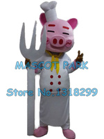 pig chef mascot costume cute pig custom adult size cartoon character cosply carnival costume 3301