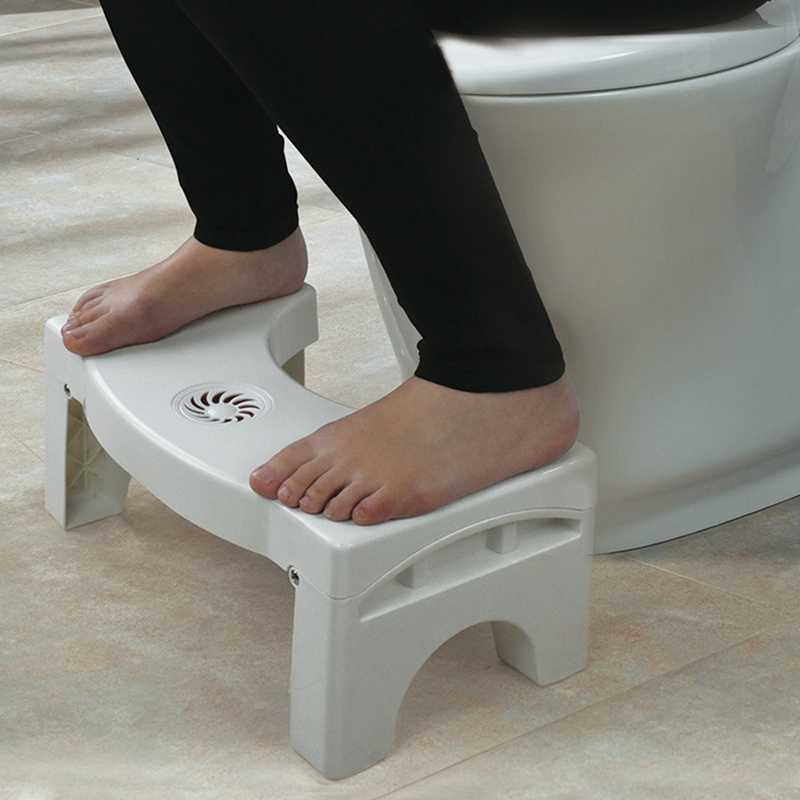 Folding Squatting Toilet Stool, Non-Slip Squatty Potty Bathroom Toilet Step Stool, Anti Constipation Natural & Comfortable Squ