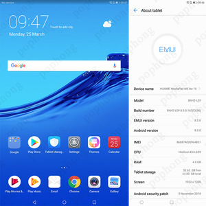 """Image 5 - הגלובלי ROM המקורי HUAWEI MediaPad M5 לייט 10.1 """"אנדרואיד 8.0 4G RAM 64G ROM Huawei M5 לייט tablet PC טביעות אצבע נעילה"""