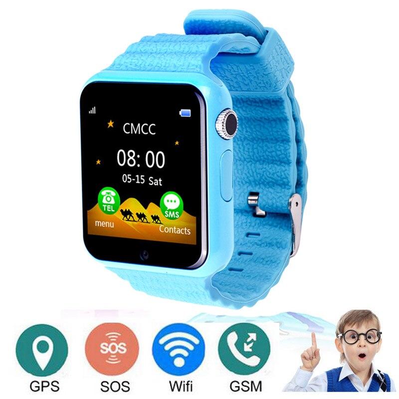 V7 enfants GPS montre intelligente GPS téléphone LBS emplacement SOS sécurité d'urgence Anti perdu pour ISO Android étanche bébé enfants montre