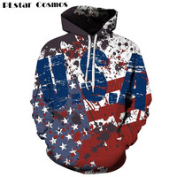 PLstar Cosmos 2017 The New Hoodies Sweatshirt Women Men Retro American Flag Hoodies Casual Unisex Harajuku