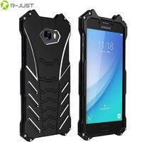 R JUST Batman Case For Samsung Galaxy C5 C5 Pro Metal Aluminum Shockproof Cover Case For Samsung Galaxy C7 C7 Pro C9 Pro black