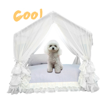 Pet summer gazebo lace dog bed Summer pet tent cute house breathable comfortable removable and washable portable