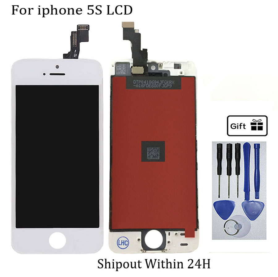 Factory price LCD Touch Screen For iPhone 5S Display Digitizer Assembly AAA+++ Black Replacement Free Shipping