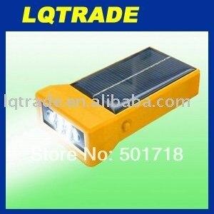 Dedicated to earthquake relief/Solar Flashlight/Ultra bright spotlights/solar charger 6.5V/100mA