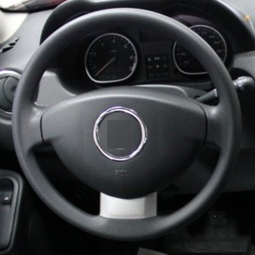 black leather hand stitched car steering wheel cover for renault duster dacia duster in steering. Black Bedroom Furniture Sets. Home Design Ideas