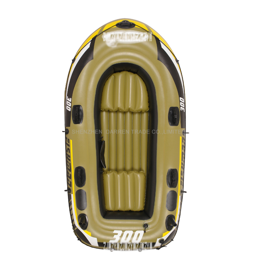 4 person barn uppblåsbara fiskebåt PVC roddbåtar bär vikt - Vattensporter