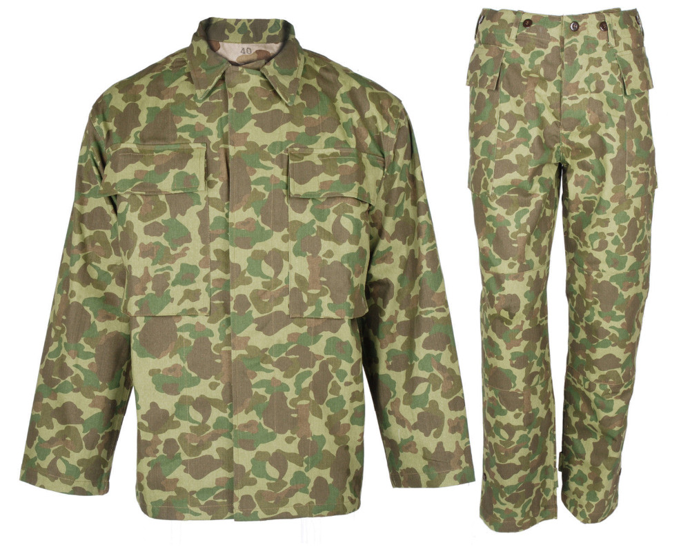 meet sold worldwide latest design US $132.99 |WW2 WWII US MARINE CORPS ARMY SOLIDER PACIFIC CAMOUFLAGE JACKET  & TROUSERS MILITARY UNIFORM World military Store-in Trainning & Exercise ...