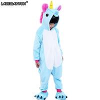 LAISIDANTON Kids Unicorn Pajamas Girls Boys Blue Pink Purple Pijama De Unicornio Onesie Anime Cosplay Halloween