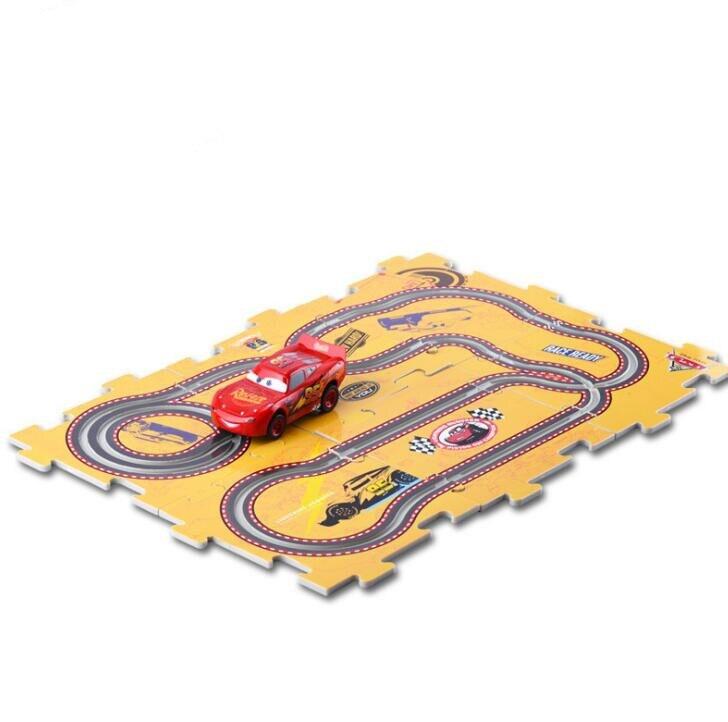 Disney Pixar car3 Electric track toy car LIGHTNING Mcqueen <font><b>Jackson</b></font> race Plastic mold car diecast toy cars slot <font><b>puzzle</b></font> tracks