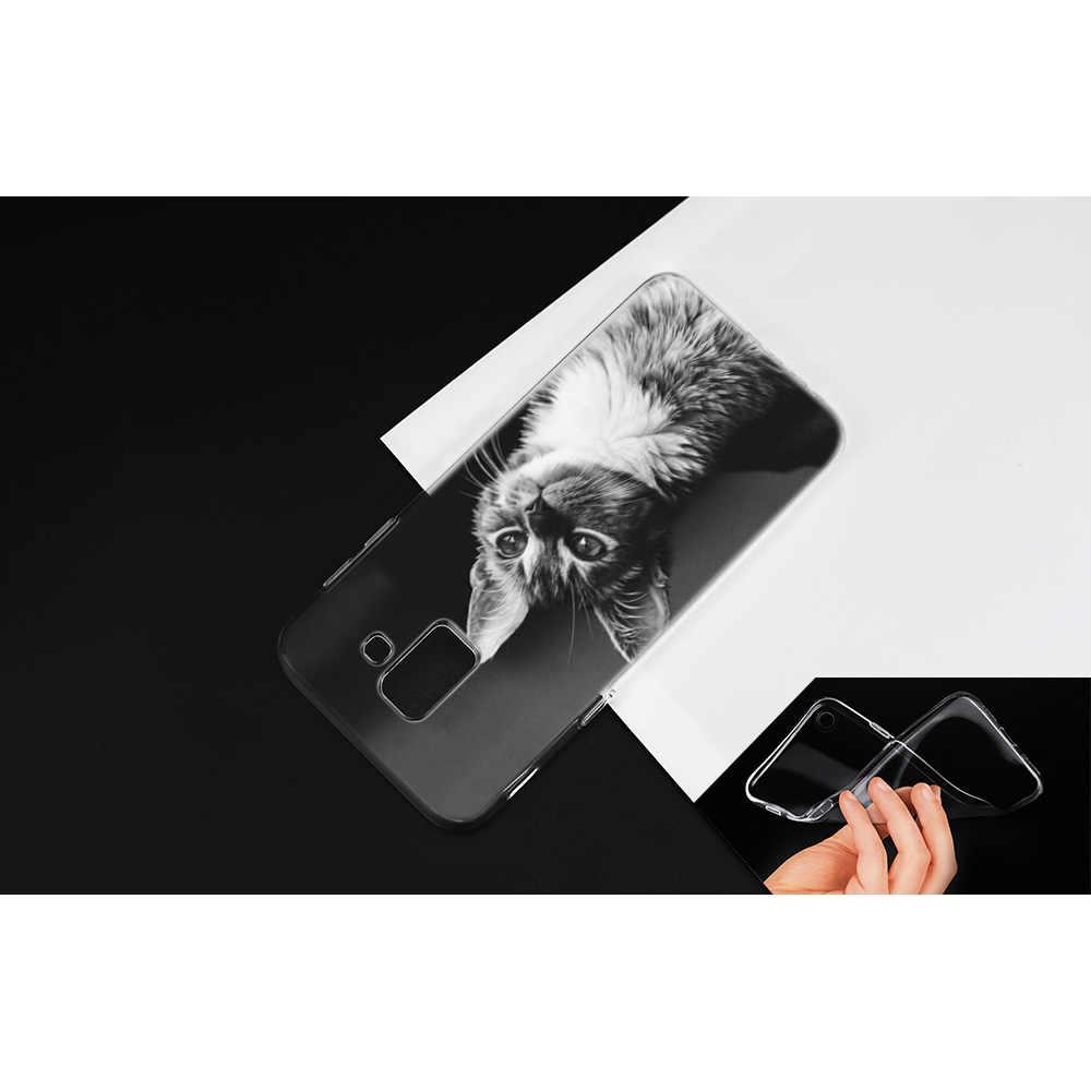 Летние привлекательной женщины кошка силиконовый чехол для samsung Galaxy A6S A8S A7 A9 2018 J4 J6 плюс J8 2018 J6 + J4 + защитный чехол для телефона чехол из термопластичного полиуретана