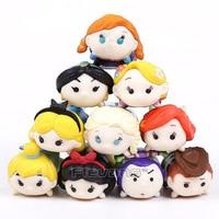 Princess Toys Dolls 10pcs Set Anna Elsa Snow White Tinker Bell Jasmine Ariel Rapunzel Mini Figures