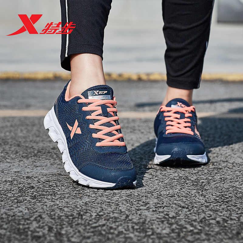 แฟชั่น Xtep ผู้หญิงรองเท้าวิ่งกีฬารองเท้าผ้าใบหญิงเทรนเนอร์รองเท้ากีฬากลางแจ้งผู้หญิง Damping Breathable รองเท้า 983118119066