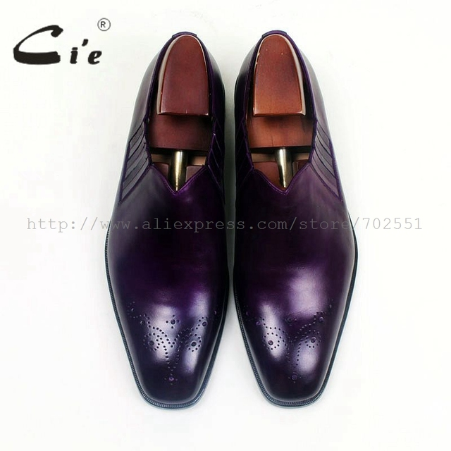 Ci'e – Square toe, handmade men's leather shoes. 100% genuine calf leather out sole.