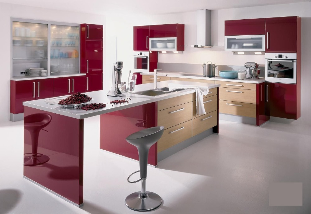 amazing cafe bar acrylic solid surface beech wood kitchen cabinet - Kitchen Cabinets Price