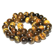 Accessories Wholesale 4/6/8/10/12mm Tiger Eye Round Natural Stone Loose Beads For Woman Jewelry Making DIY Bracelet Necklace