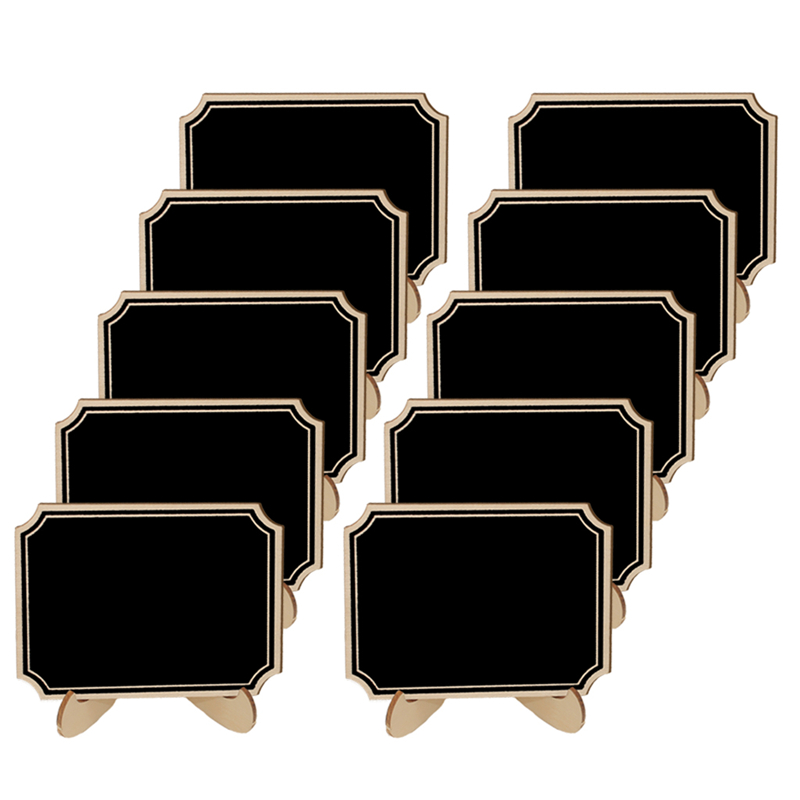 5pcs/Lot  Inner Corner Wooden mini blackboard For Wedding Party Decorations chalkboards Message board supplies Pakistan