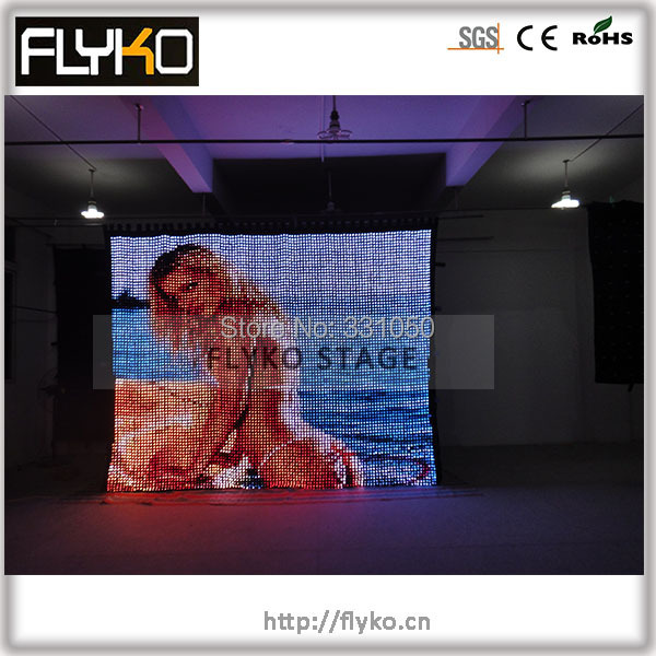 Free shipping software control PC high definition soft flexiable LED video screen ...