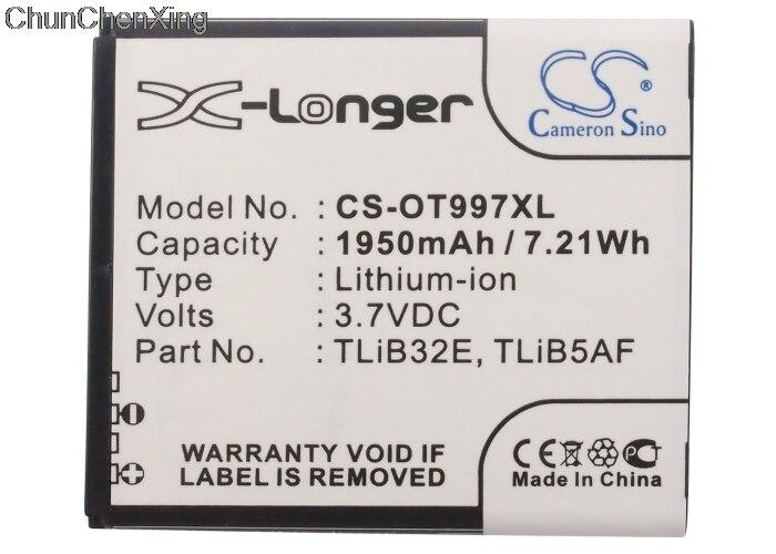 Cameron Sino 1950mAh аккумулятор TLiB5AF для Alcatel Linkzone MW41, MW41TM 4G