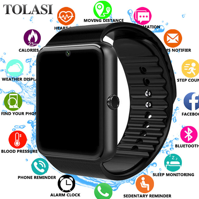 Pedometer Smartwatch Inteligente Digital Bluetooth Sport Android Relogio GT08 for Men