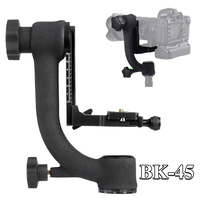 BEIKE BK 45 Professional Panoramic 360 Degree Gimbal Tripod Head 1/4 Screw for Camera Telephoto Lens Quick Release Plate