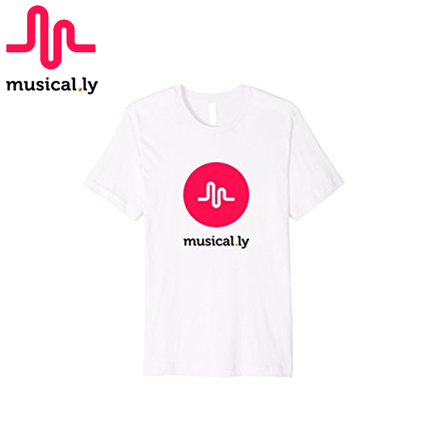MUSICAL.LY 2017 Original classic 100% cotton short sleeve black or white t-shirt for women for kid