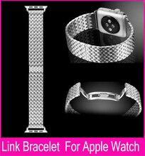 Armadura enlace pulseras pulsera para Apple reloj banda de Metal de 42 MM 38 MM bandas de acero inoxidable 20 MM con mariposa especial hebilla